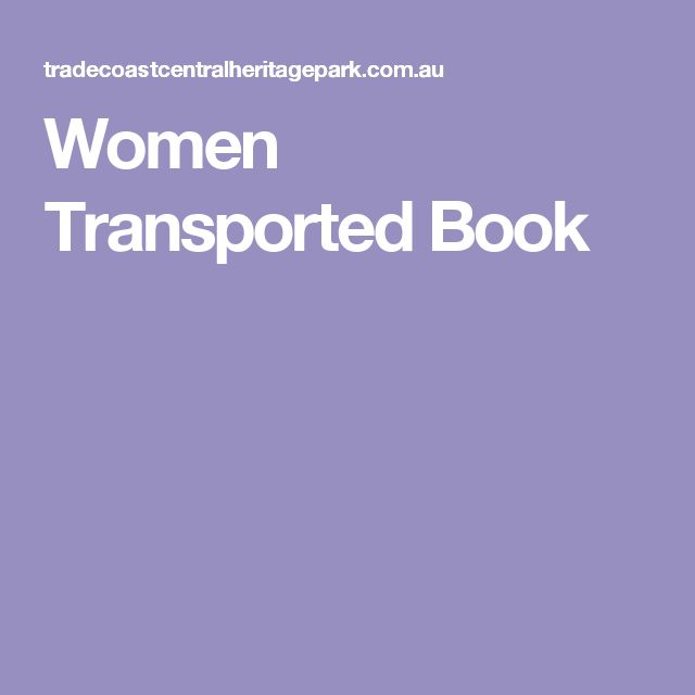 Women Transported Book
