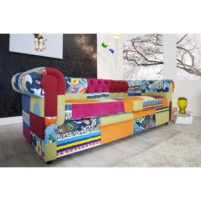 Sofa Chesterfield Patchwork  #colorfulfurniture #multicoloured #colors #interiordesign #homedecor #irenesworld #yourhome #yourplayground