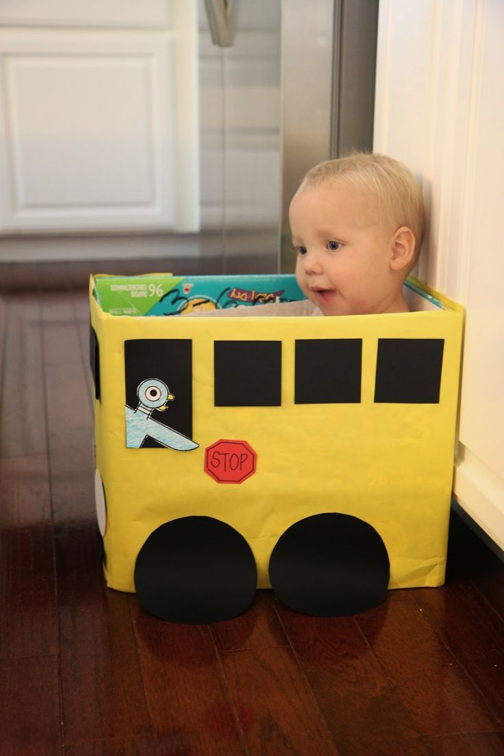 Toddler Approved!: Cardboard Box Bus Craft & Number Game for Kids {Mo Willems Virtual Book Club for Kids}