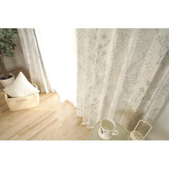 北欧デザインのおしゃれな既製カーテン<100サイズ揃ってます>びっくりカーテン