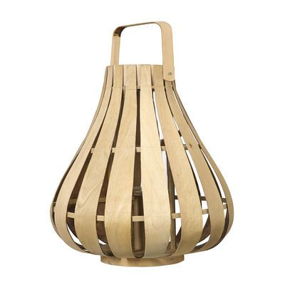 Vertical Strip Small Lantern - / Bamboo - Ø 39 x H 42 cm Natural bamboo by Pols Potten - Design furniture and decoration with Made in Design