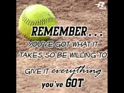 Amazing Softball Quotes:) - YouTube