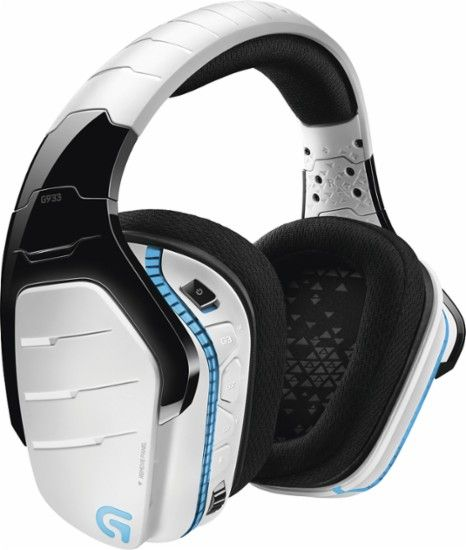 Logitech - G933 Artemis Spectrum Snow Limited Edition Wireless 7.1 Virtual Surround Sound Gaming Headset for PS4, Windows, Xbox One - White - $199.99