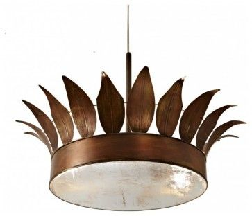 Clay Crouch Crown Ceiling Fixture eclectic ceiling lighting