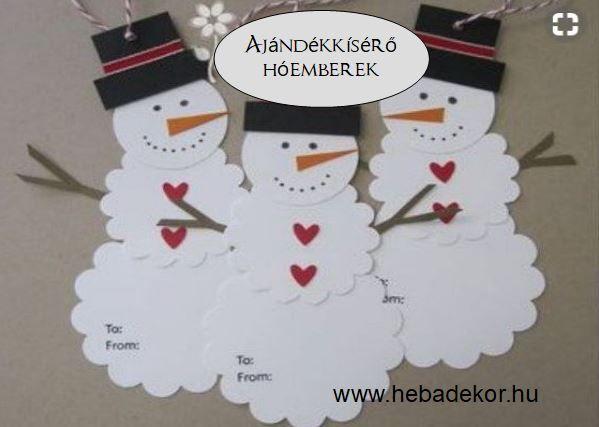 Ajándékkísérő hóemberek