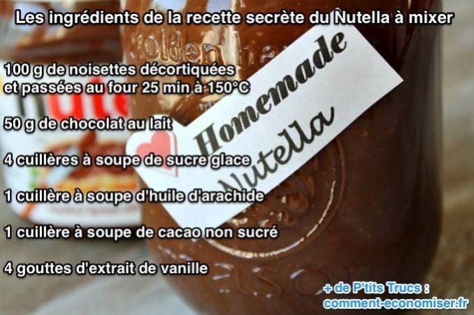 Les ingrédients de la recette secrète du Nutella
