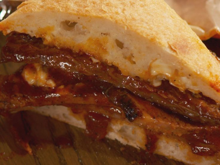Will adapt this one for the wood grill. BBQ Braised Brisket Sandwiches recipe from Nancy Fuller via Food Network