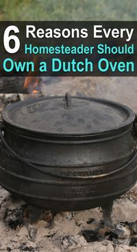6 Reasons Every Homesteader Should Own a Dutch Oven. | Posted by: SurvivalofthePrepped.com