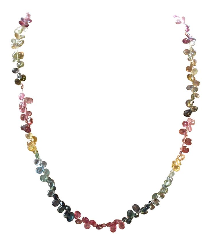 """""""LOVING VIBES""""- Watermelon Tourmaline Briolette Necklace. This luxury one-of-a-kind necklace is comprised of approximately 45.70 ct's of the highest quality Watermelon Tourmaline and Pink Tourmaline gemstones.  These gorgeous briolettes are soft and delicate with a high vibration. Allow these crystals to support your heart chakra and to surround you with loving vibes, peace and relaxation! Grab it now, as these gems will sell quickly... #watermelontourmaline #spiritualjewelry #love"""