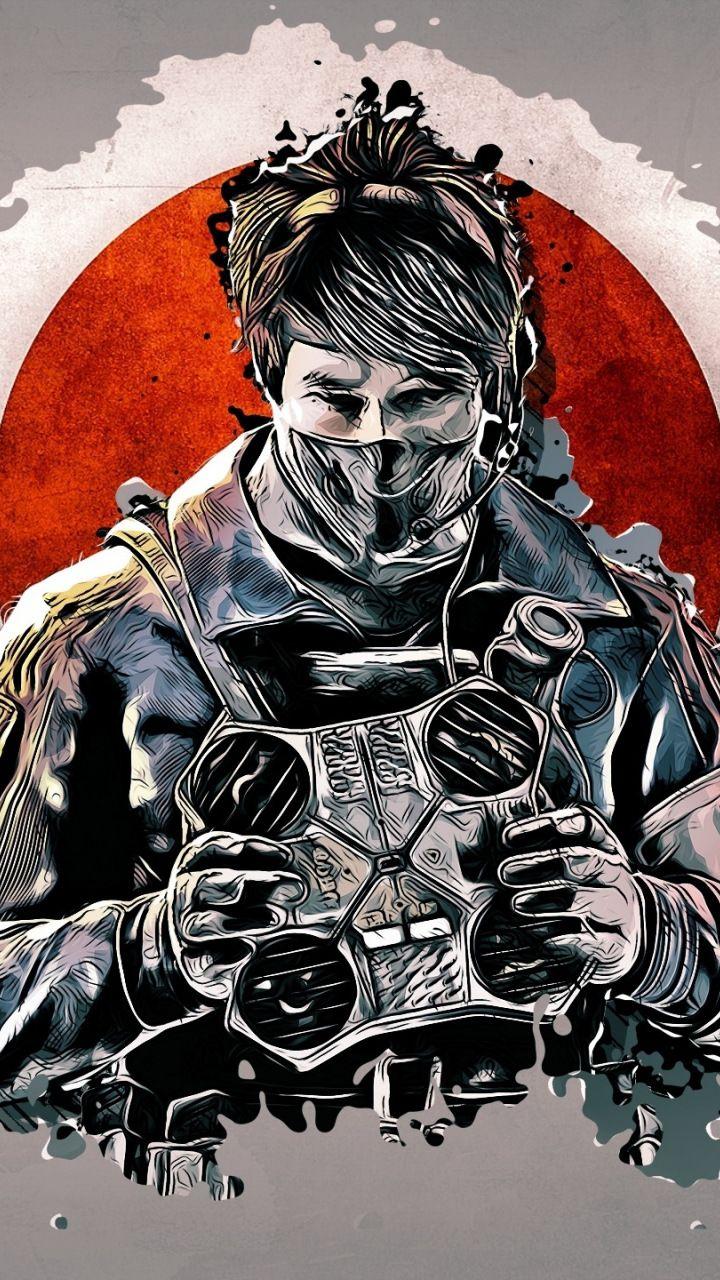 Glitch art, Echo, Tom Clancy's Rainbow Six Siege, 720x1280