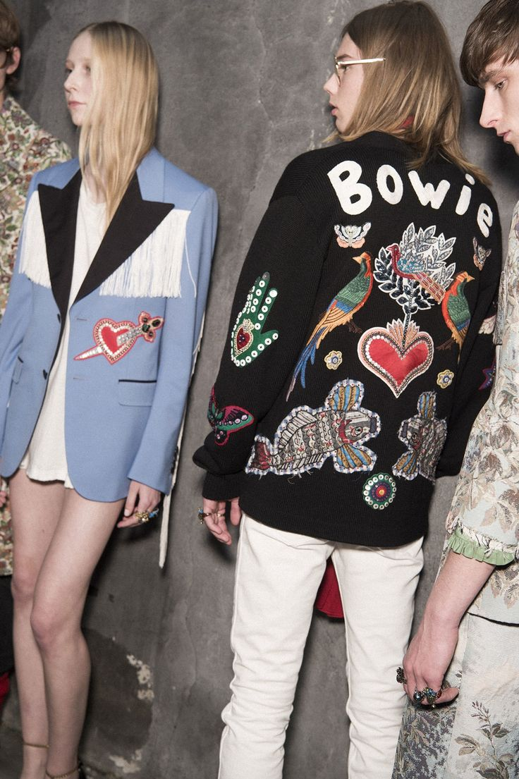 go behind the scenes of gucci's chill fall/winter 16 Bowie