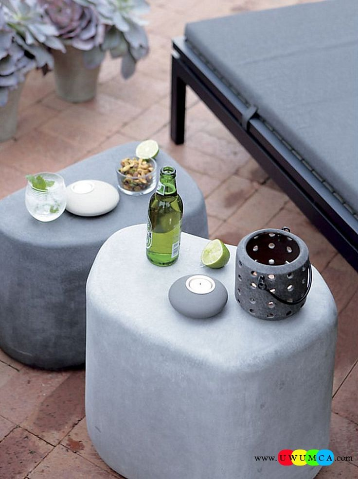 Furniture:Rustic Outdoor Summer Lounge Furniture Collection Easy Summer Garden Lounge Escapes Sofas Chairs Bar Table Set Stone Stools Double As Tables Luxurious Outdoor Decor Fruniture Collection To Enliven Your Relaxed Summer Lounge!