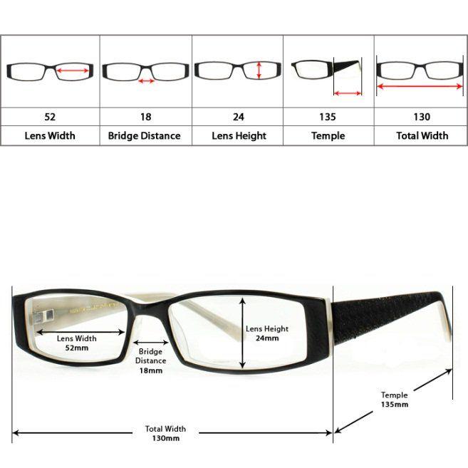 6c1f8b2dbbe eyeglass frame size info