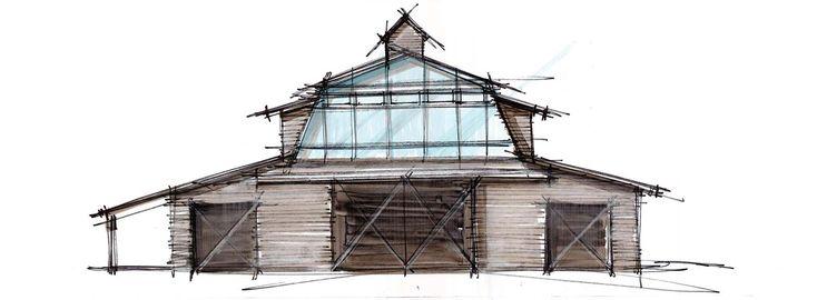 Barn Haus Rückzug für Unterhaltung in Lake Chelan Landschaft konzipiert #abent…