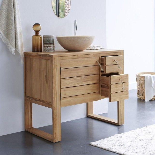 Meuble Salle de bain en bois de Teck 30 Stelle droit Armoires and