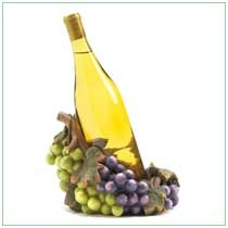 "Luscious clusters of lifelike grapes bring festive color to your tabletop, cradling a bottle of your favorite wine at just the right decanting angle. A truly tasteful addition to your next gathering!   	  Polyresin. Wine not included. 8 1/8"" x 6 3/4"" x 6"" high.   	  Availability: In Stock   	  Item:  39852"