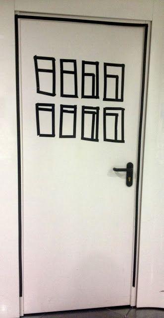 Cómo decorar una puerta con washitape