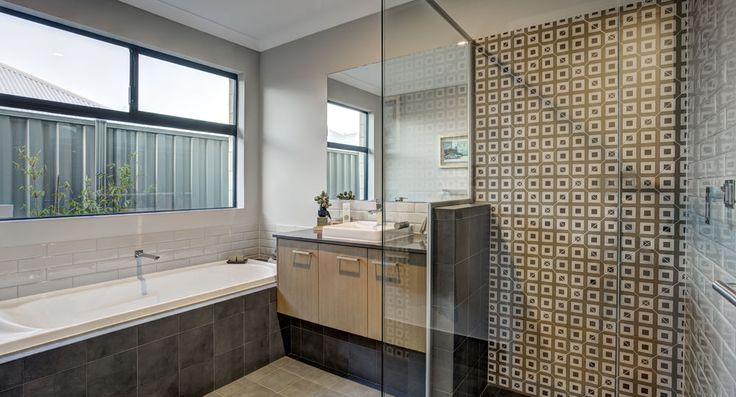 Second bathroom in the Mod by Summit Homes. Discover more at https://www.summithomes.com.au/display-homes