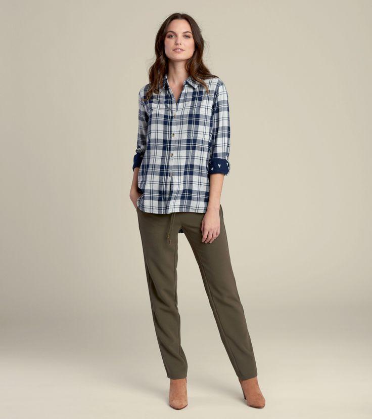 Buffalo Button-Down in Navy & Sparrows - Tops - Shop All - Women  | Hatley Canada