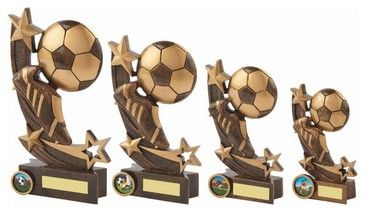 Shooting star football boot & ball #trophy