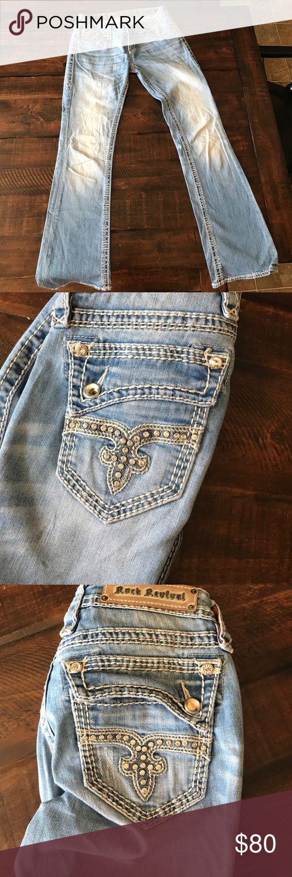 Rock Revival Women Jean Rock Revival light wash jean Rock Revival Jeans Boot Cut