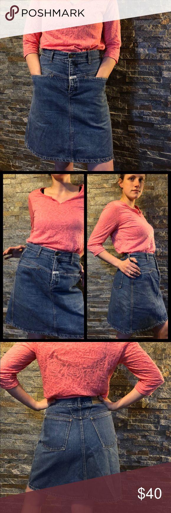 vintage Marithé Francois Girbaud Jean Skirt Good condition. Size 11/12 Marithé Francois Girbaud Skirts
