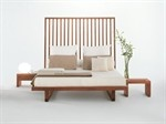 Wooden double bed with upholstered headboard NIGHT-NIGHT | Bed - Riva 1920
