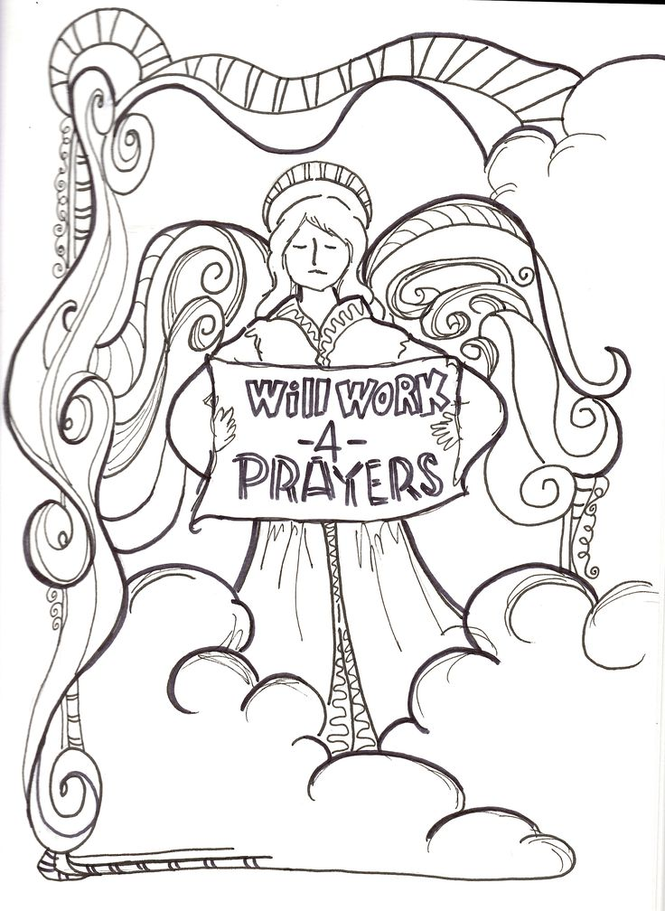 Today Was The Feast For Archangel Micheal Raphael And GabrielOriginal Christian Coloring Page