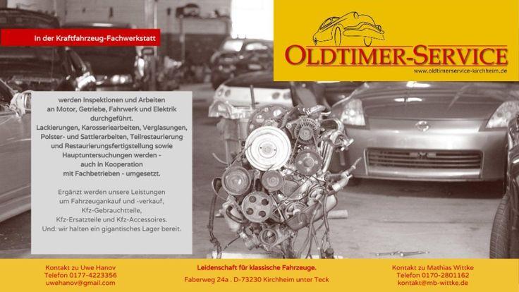 Oldtimer-Service Kfz-Fachwerkstatt Uwe Hanov - Reparatur und Wartung von klassischen Fahrzeugen und Youngtimern für Oldtimer / Youngtimer - Traum Klassiker