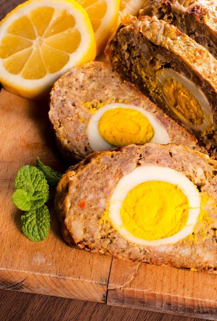 Mäsová roláda s vajíčkom