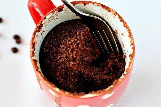 Шоколадный пудинг в кружке