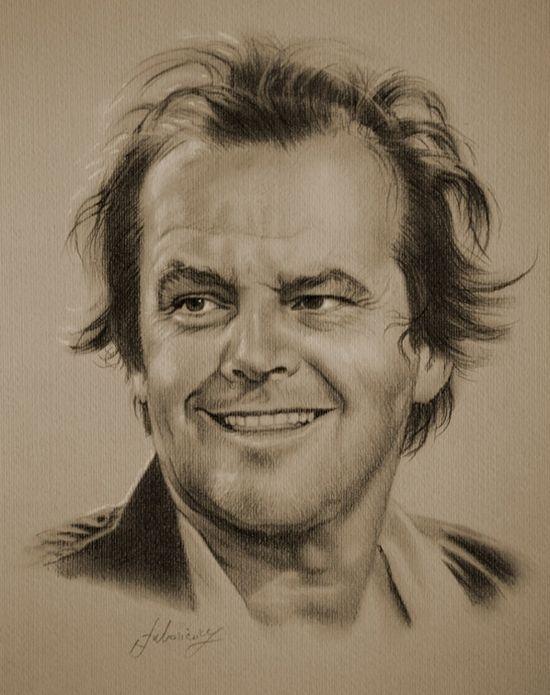 Drawings of famous people-Jack Nicholson