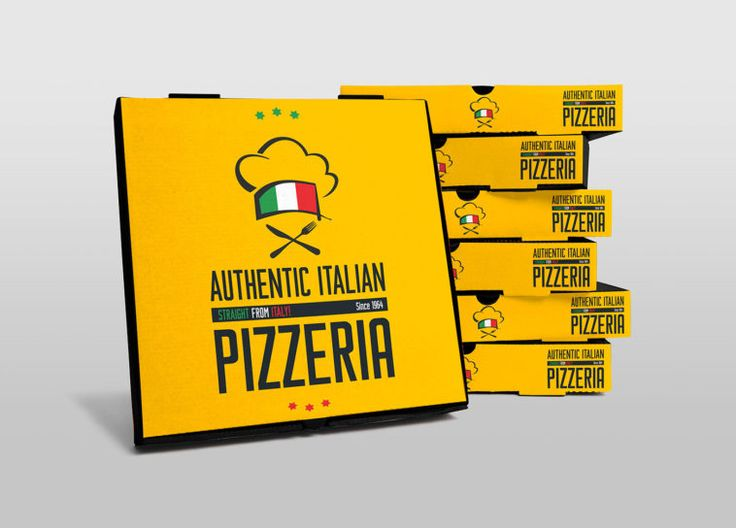 Download Pizza Delivery Box Packaging Mockup - PsFiles | Pizza ...