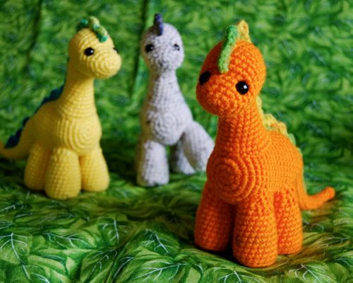 These are so cute Gumdrop Dinosaur PDF Crochet Pattern