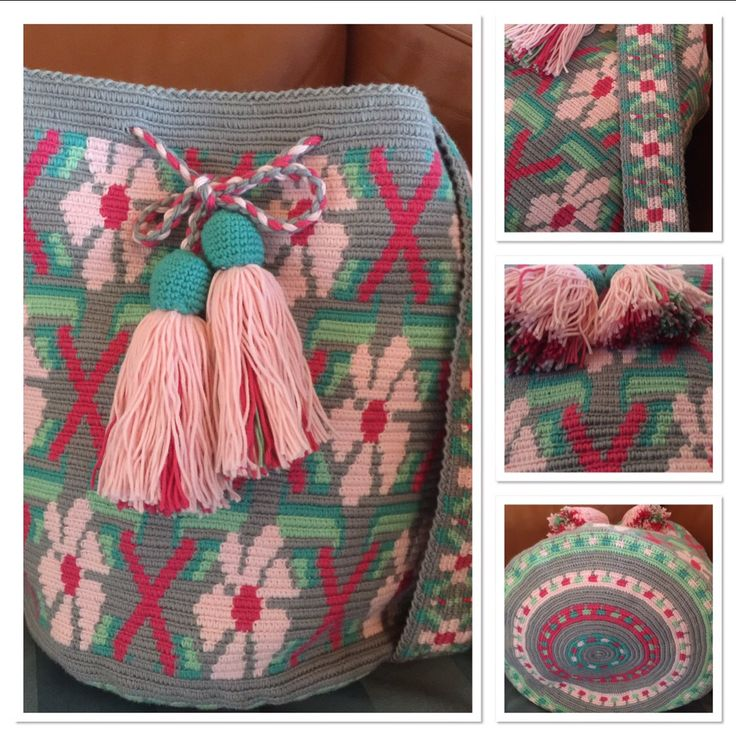 Crocheted bag size XL