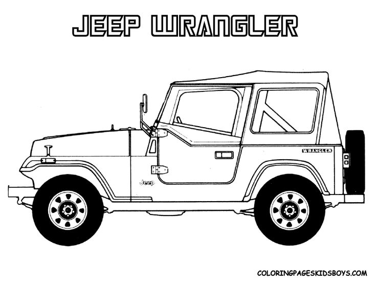 capable wrangler for the jeep coloring book