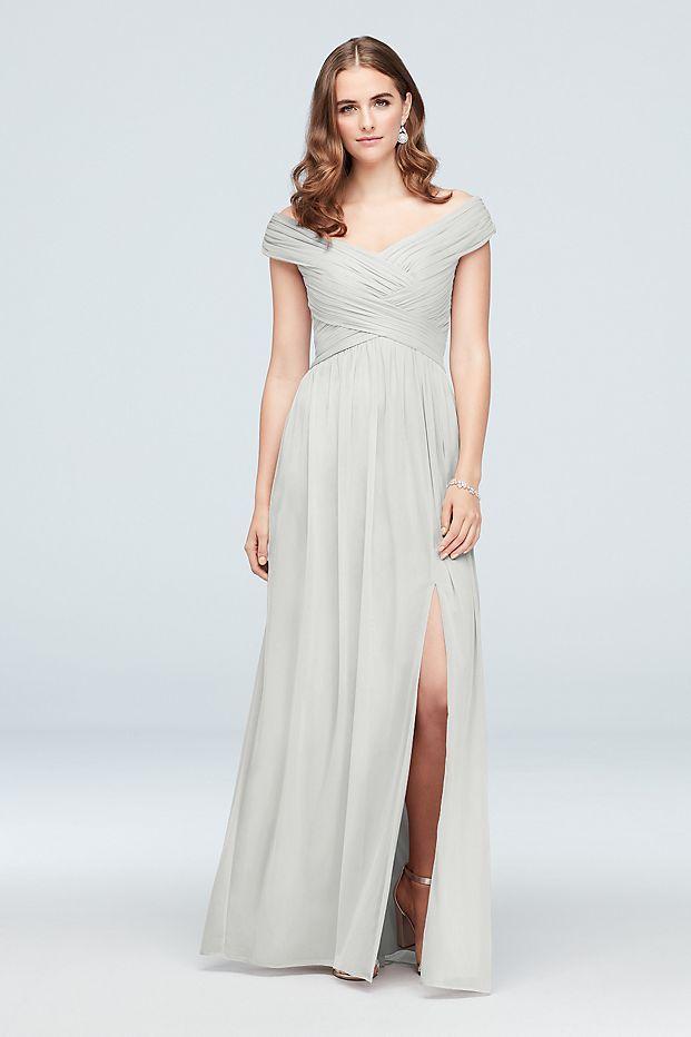 8f547944186 Crisscross Off-the-Shoulder Mesh Bridesmaid Dress Style F19951 ...