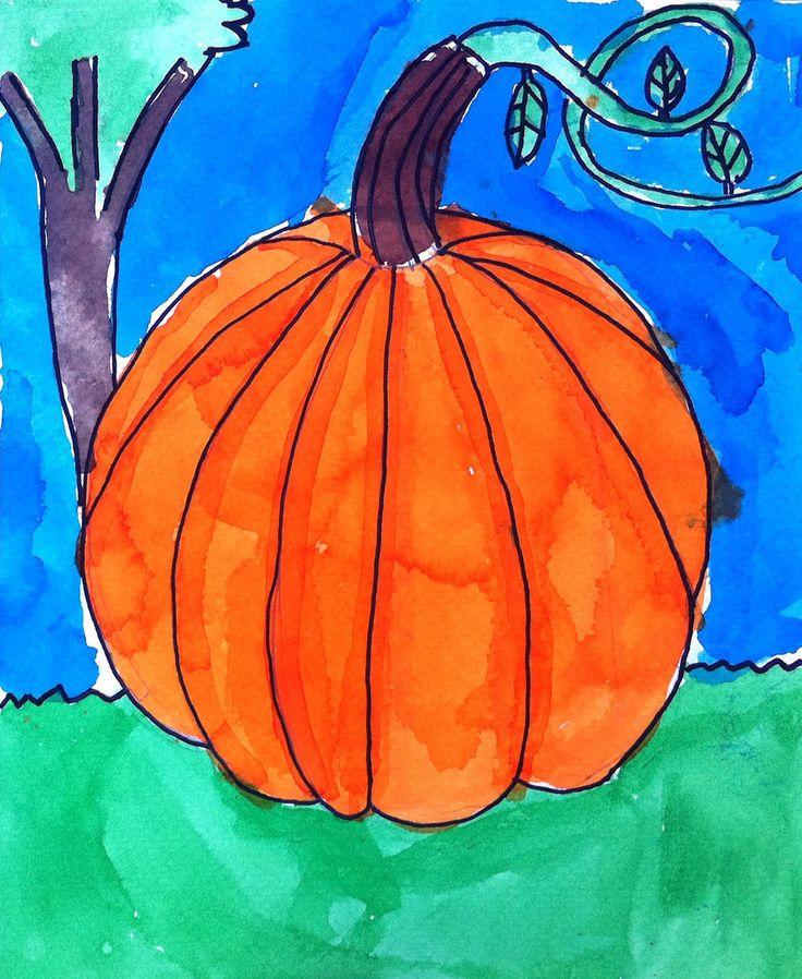 Art Projects for Kids: Watercolor Pumpkin
