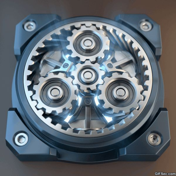 GIF: Mechanical Gear