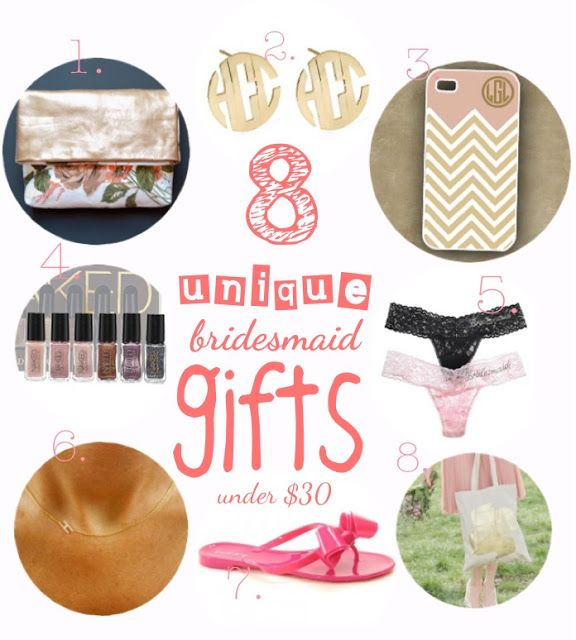 Great Ideas For Bridesmaids Gifts