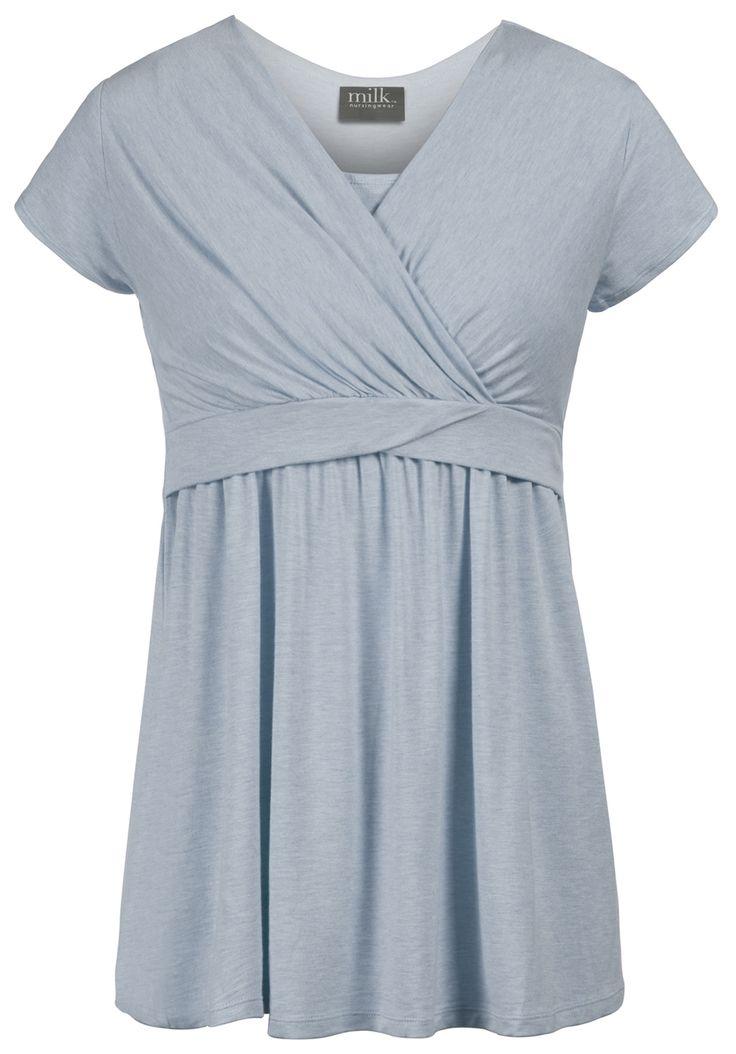 60596e0bf Milk Nursingwear - Twist-waist heathered maternity and nursing top