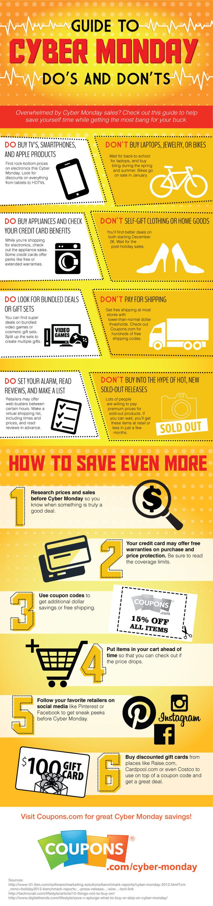 Cyber Monday Infographic: Do's and Don'ts - Coupons.com Blog