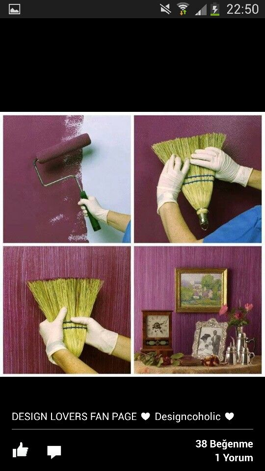 A DIY interior design technique. You have to sacrifice a broom, but the final effect is quite stylish.