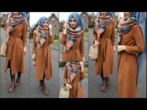 أجمل ازياء المحجبات شتاء 2017 ملابس شتوية للمحجبات - winter hijab outfits