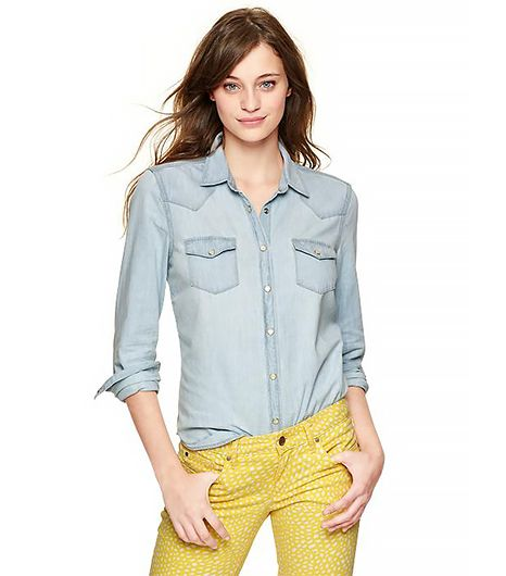 @Who What Wear - Gap 1969Bleached Western Shirt($60)
