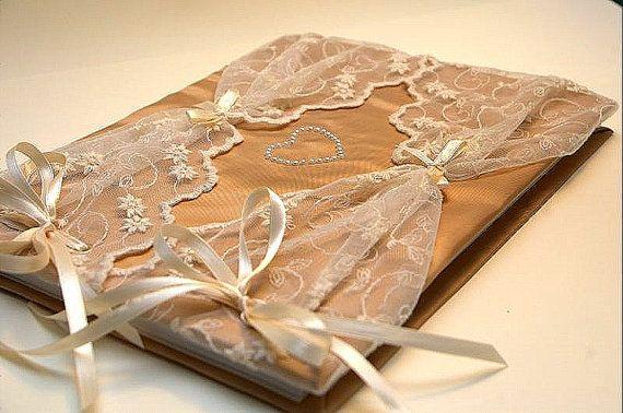 Wedding Guest Book  Romantic Retro  Elegant by LenaWeddings