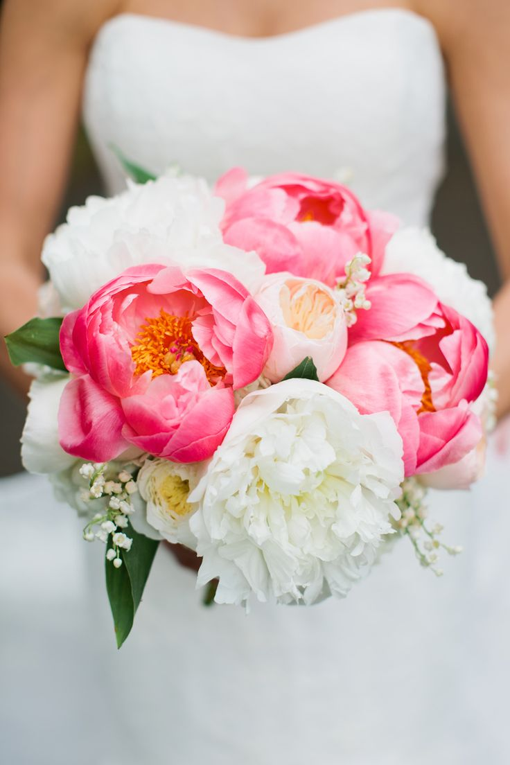 Pink and White Peony Bouquet | photography by http://www.kristynhogan.com/