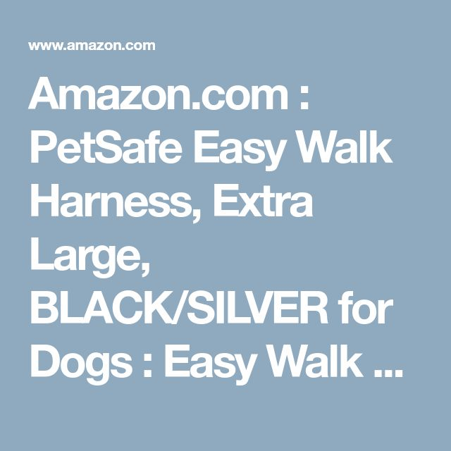 Amazon Com Petsafe Easy Walk Harness Extra Large Black Silver