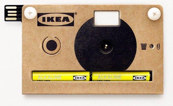 Câmera com corpo em papelão, pela Ikea.    http://www.youtube.com/watch?feature=player_embedded=XZTQ60EBRDo