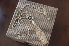 Stitch Fix stylist: love this necklace! Please include it in my next fix. Stitch Fix February 2016 Romolo Canon Pyrite Tassel Necklace